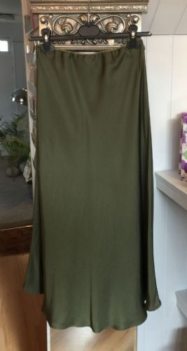 Silk Skirt - Olive Green